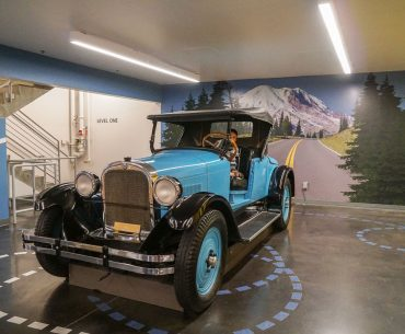LeMay America's Car Museum has an extensive Family Zone area where kids can climb inside a classic car, featured by top US travel blogger Marcie in Mommyland.