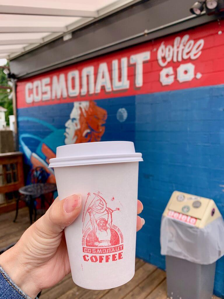 For a quirky coffee shop in Tacoma, WA, head to Cosmonaut Coffee Co near Wright Park.