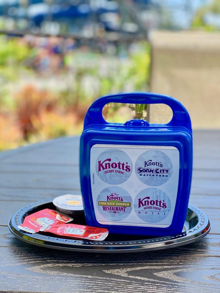 Kids will love getting a kids meal at Knott's Berry Farm Soak City in Buena Park, CA.