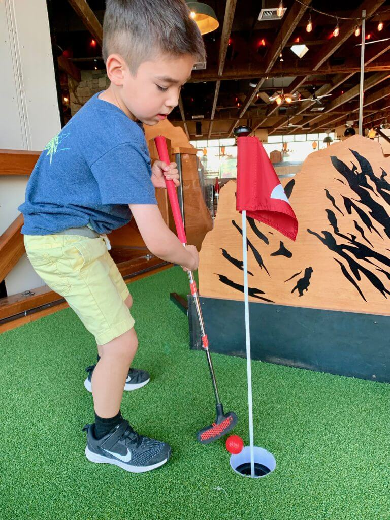 For a kid-friendly restaurant in Tacoma WA head to Rhein Haus where they have kids meals, bocce and miniature golf!
