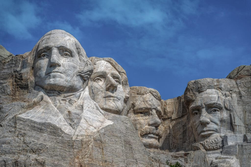 Mount Rushmore is an iconic stop on a summer road trip with kids in the United States.