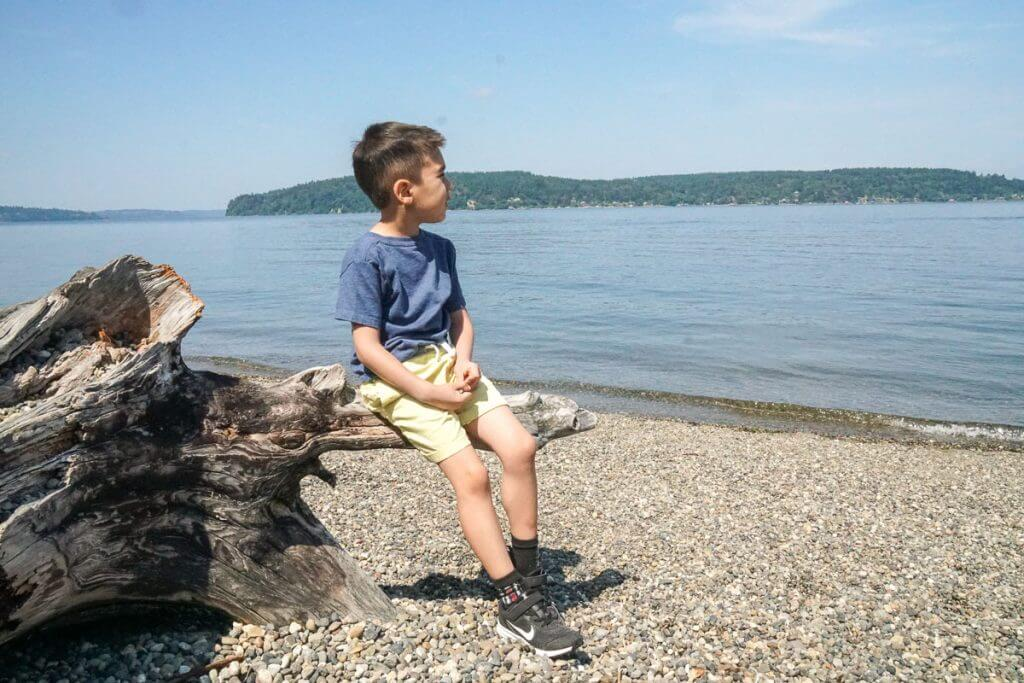 If you're looking for fun things to do with kids in Tacoma WA, head to Owen Beach at Point Defiance Park to play in the water and search for cool rocks!