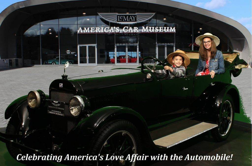 Sit in a classic car for a free photo op at LeMay America's Car Museum in Tacoma, WA
