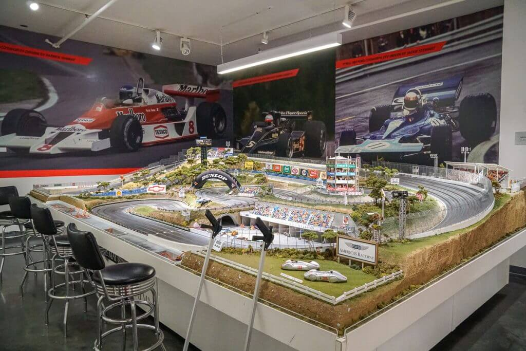 Kids can race slot cars at LeMay America's Car Museum near the Tacoma Dome in Washington State.
