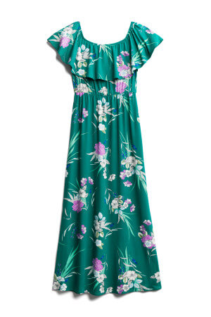 This tropical maxi dress is on trend for summer 2019 fashion and is part of my July 2019 stitch fix unboxing and review.