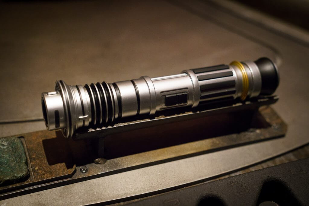 Savi's Workshop handbuilt lightsaber experience featured by top US Disney blogger, Marcie and the Mouse | Each participant gets to pick their own lightsaber hilt they can customize at Savi's Workshop at Galaxy's Edge.