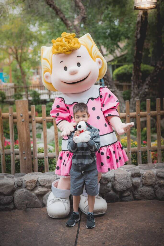 Kids will love meeting Peanuts characters like Snoopy, Charlie Brown, Lucy, Sally, Franklin and others at Camp Snoopy in Knott's Berry Farm