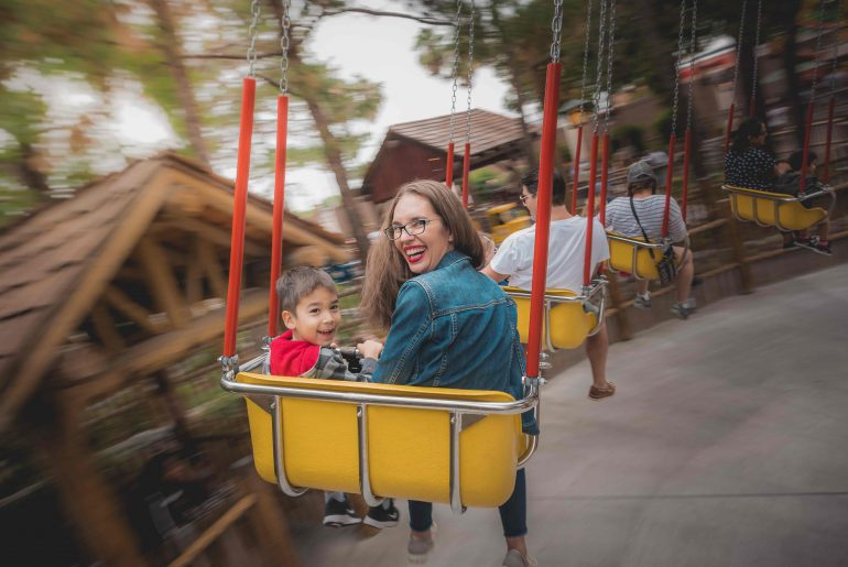 Enjoying the Camp Snoopy rides is one of the best kids Activities at Knots Berry Farm CA   9 Best Spots for Knott's Berry Farm Pictures featured by top US travel blogger, Marcie in Mommyland
