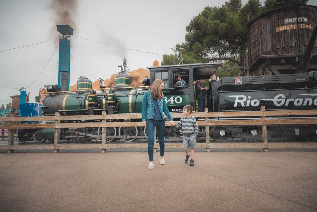 Families will love taking photos with Old Western backdrops like the Calico Railroad train