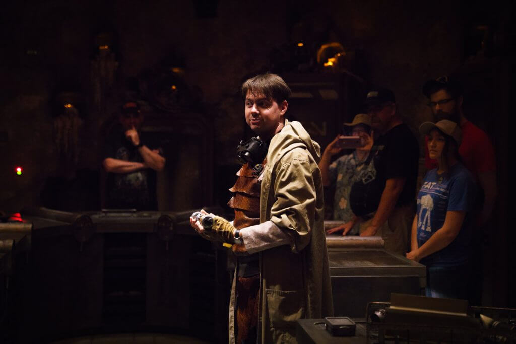 Savi's Workshop handbuilt lightsaber experience featured by top US Disney blogger, Marcie and the Mouse | A Galaxy's Edge cast member will talk about the history of the lightsaber at Savi's Workshop Handbuilt Lightsaber experience at Star Wars: Galaxy's Edge at Disneyland Resort