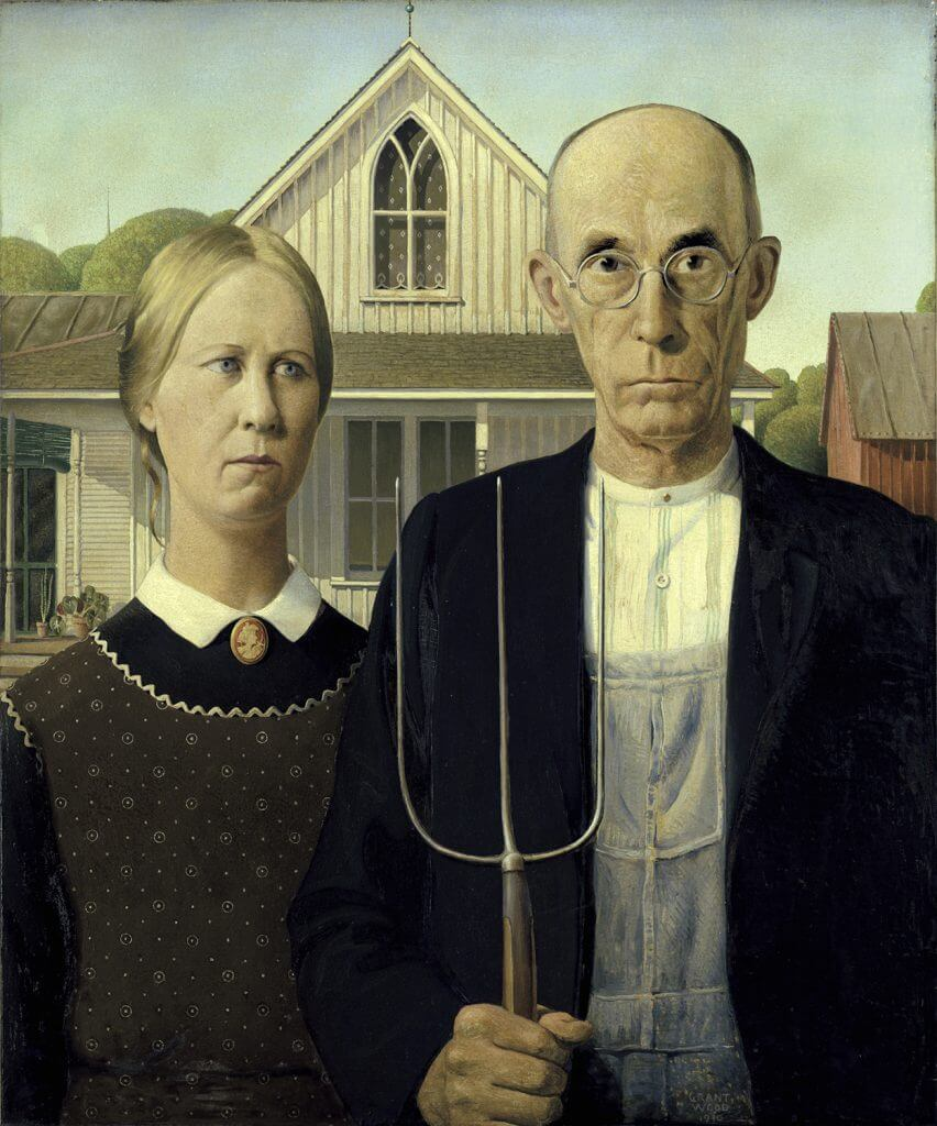 Families will love seeing classic art, like American Gothic when visiting Chicago with kids.