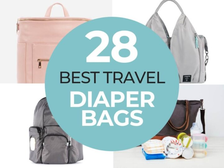 Top 28 Best Travel Diaper Bags for Traveling with Babies + Toddlers featured by top US family travel blogger, Marcie in Mommyland