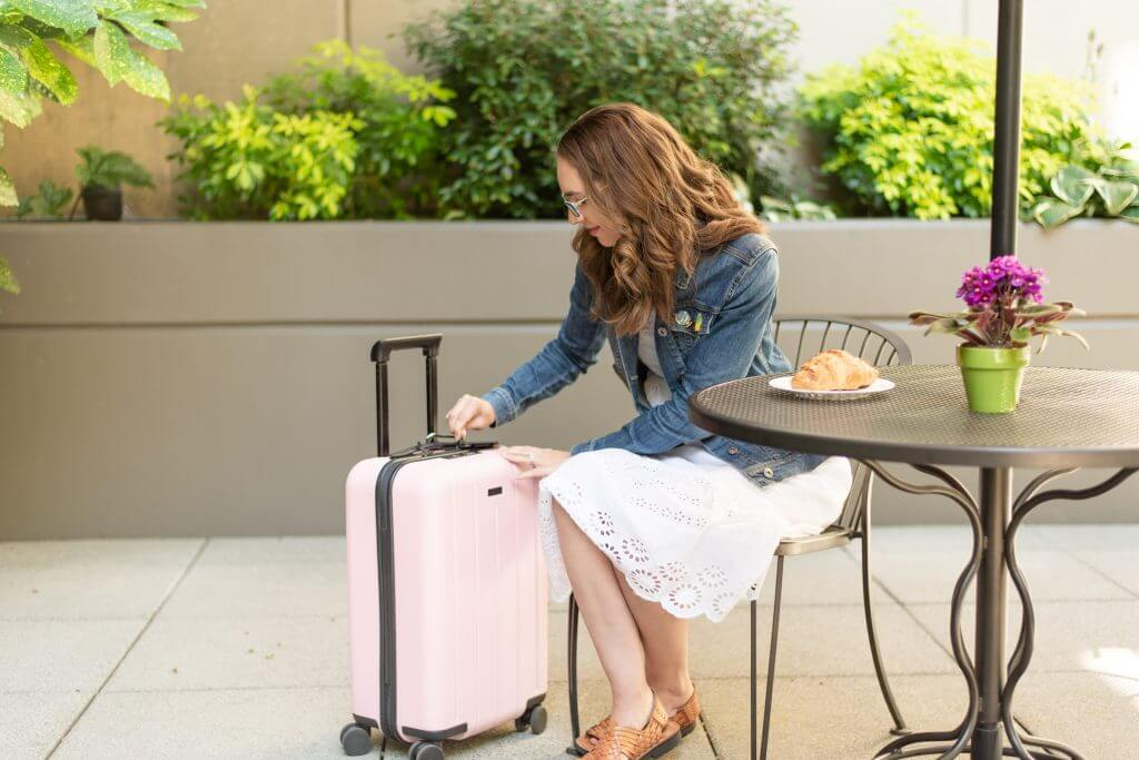 Chester Luggage set reviewed by top US family travel blogger, Marcie in Mommyland