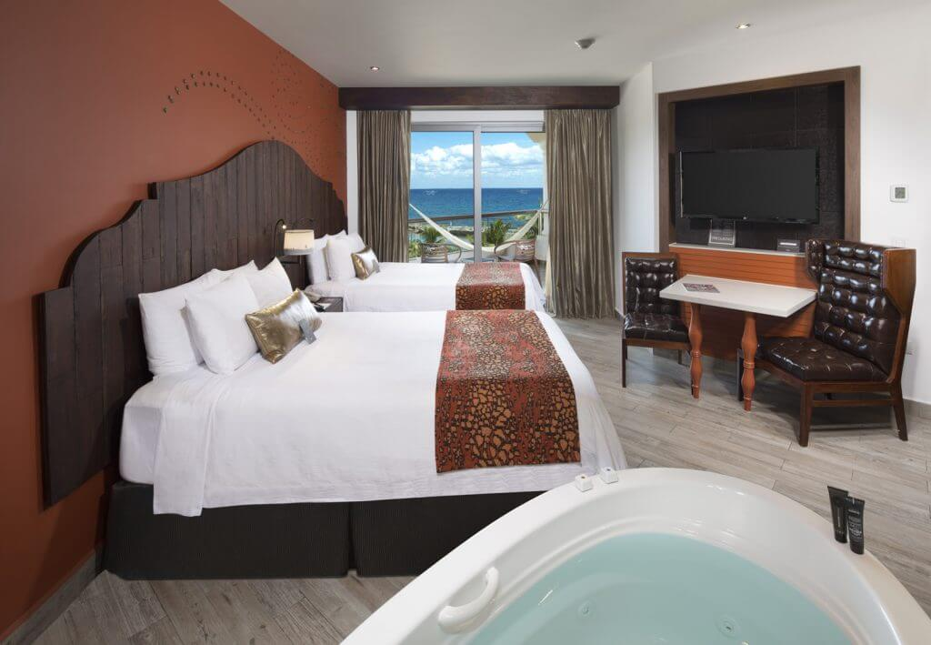 The rooms at the Hard Rock Hotel Riviera Maya are huge and offer a ton of amenities like a soaking tub and a hammock.