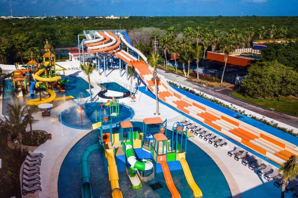 The Hard Rock Riviera Maya has a huge water park that's included in your resort stay.