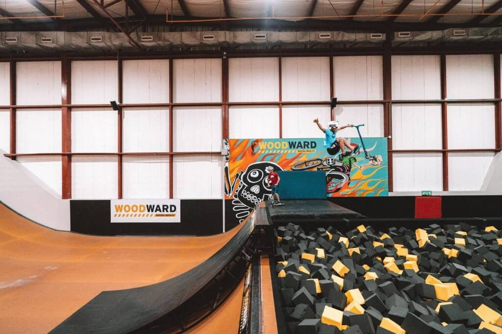 Kids will love hanging out at Woodward, an indoor trampoline and extreme sports center at the Hard Rock Riviera Maya