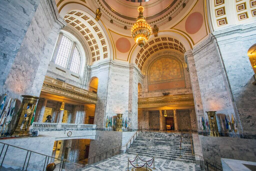 Catch a free tour of the Washington State Capitol in Olympia, WA