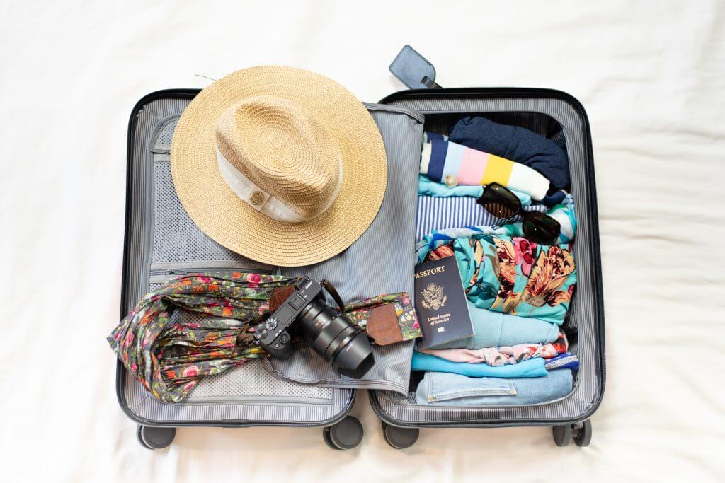 How to Get Cheap Flights Around Christmas, tips featured by top US travel blogger, Marcie in Mommyland: Chester Luggage set reviewed by top US family travel blogger, Marcie in Mommyland