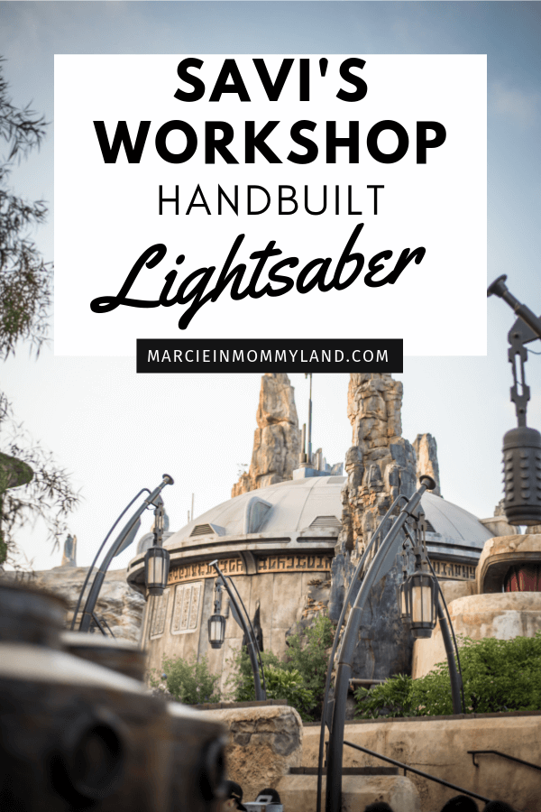 Savi's Workshop handbuilt lightsaber experience featured by top US Disney blogger, Marcie in Mommyland