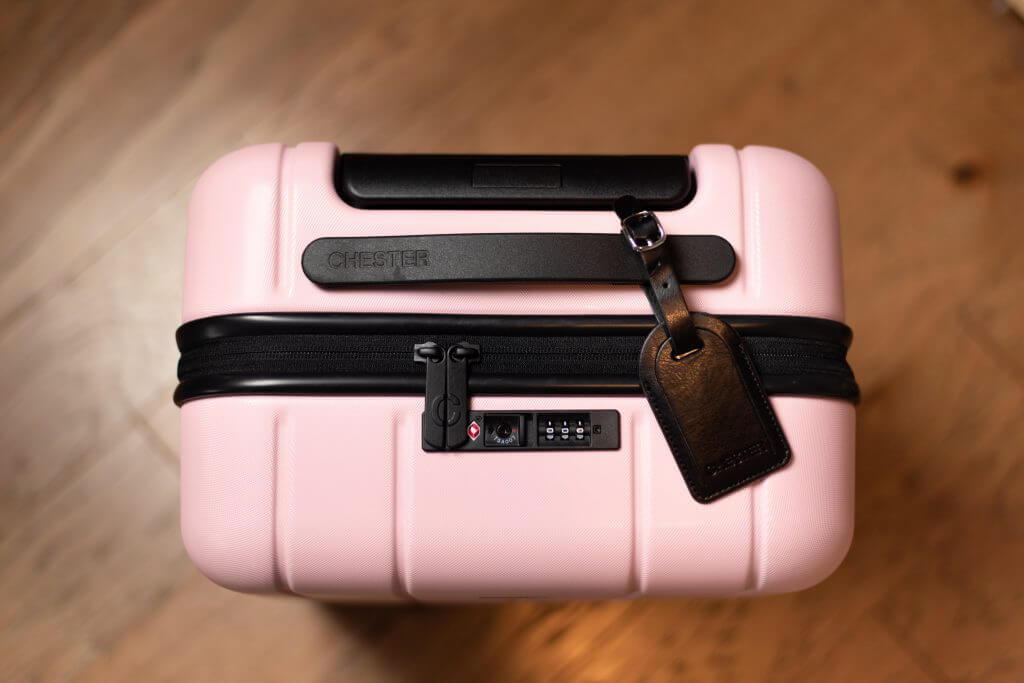 The TSA Approved lock is one of many features on the Chester luggage sets.