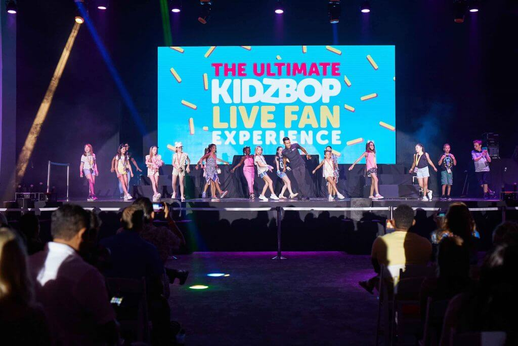 Kids who participated in the KIDZ BOP Experience at the Hard Rock Riviera Maya got to perform at the KIDZ BOP concert!