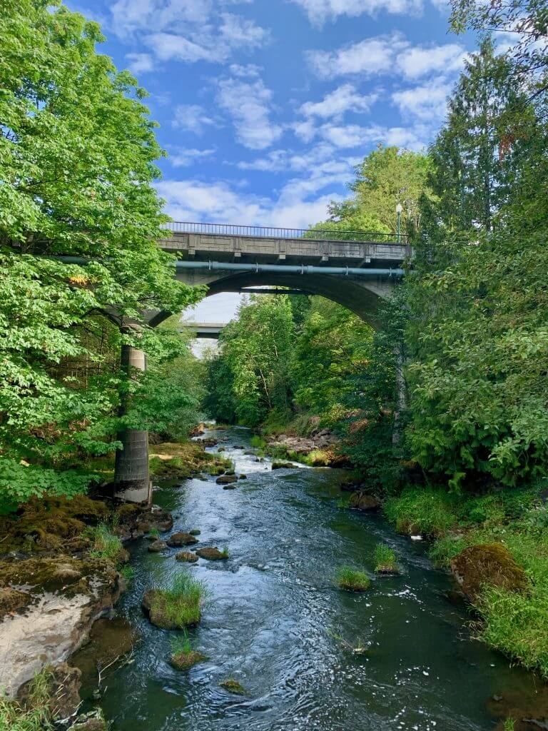 Tumwater Falls Park is a fun, free thing to do when visiting Olympia, WA