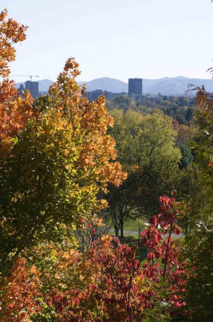 Asheville, North Carolina is a top US travel destination this fall.
