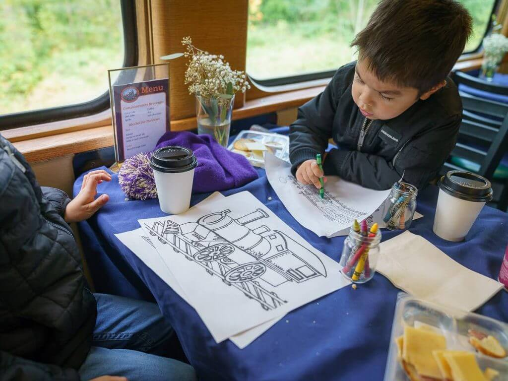 The Mt. Rainier Railroad is a fun thing to do with kids near Mount Rainier in Washington State.