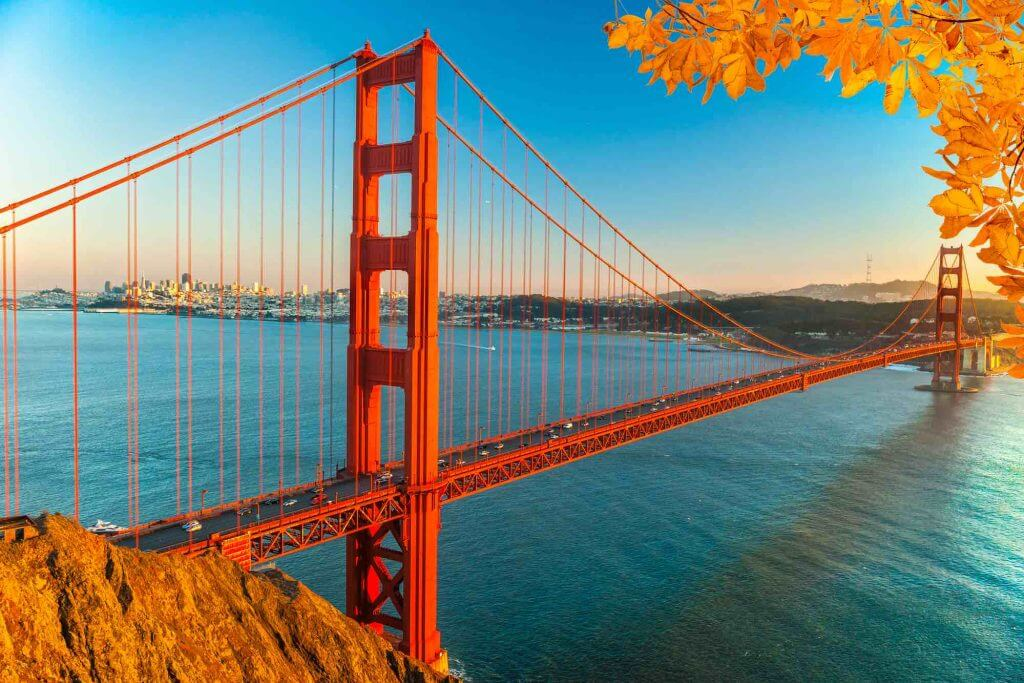 San Francisco is a popular fall travel destination because of their Indian summers