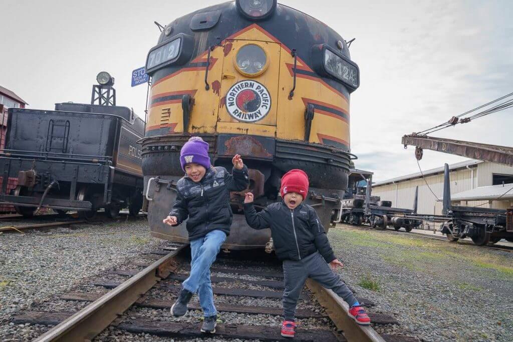The Mt. Rainier Railroad and Logging Museum is a fun, kid-friendly thing to do near Mount Rainier.