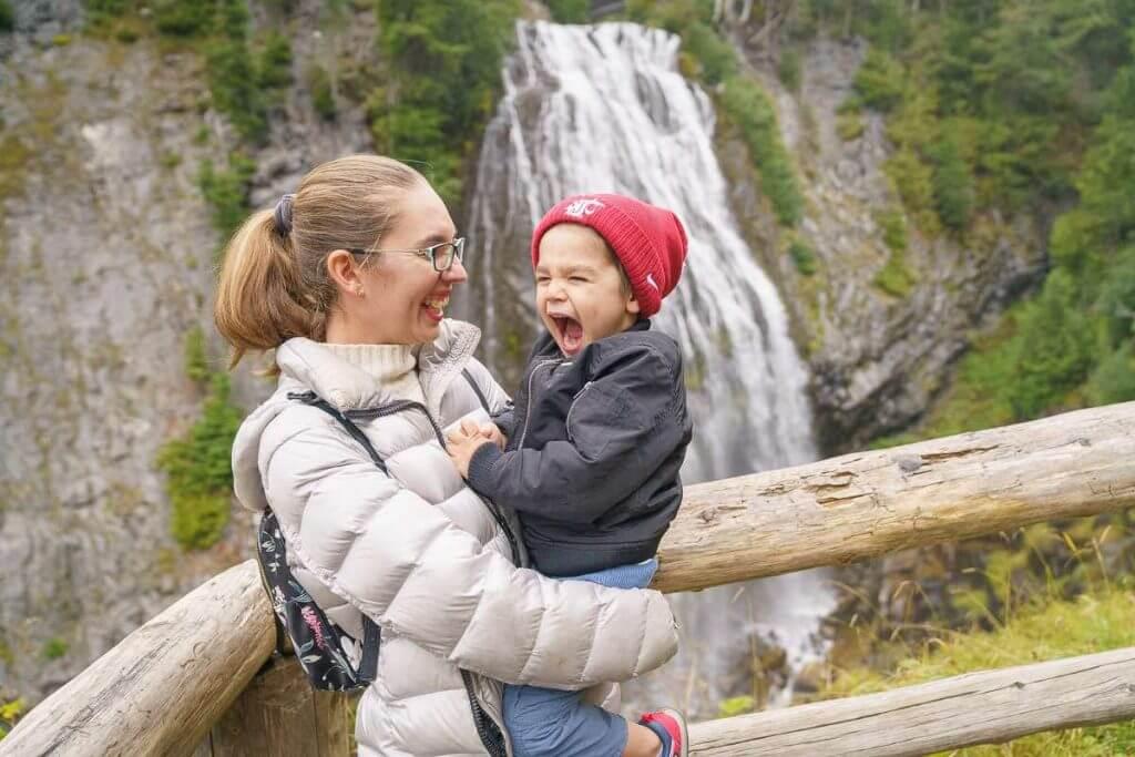 Mount Rainier National Park is full of waterfalls like Narada Falls.