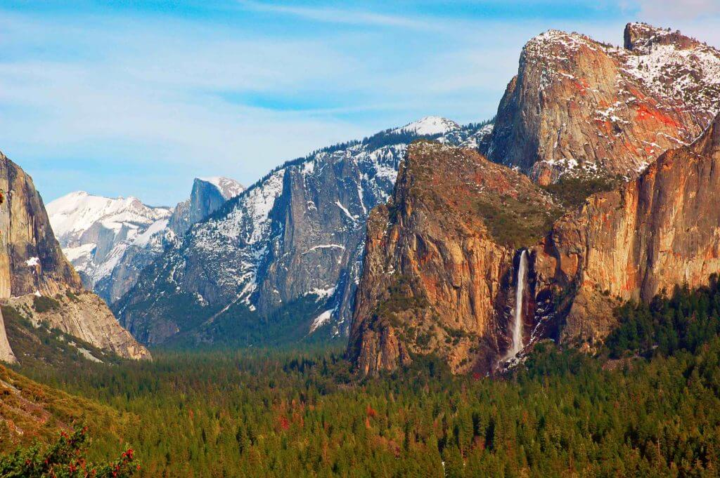 Yosemite is a popular place to go in the fall in California
