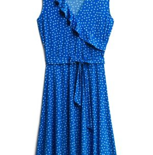 November Stitch Fix unboxing and try on featured by top US life and style blogger, Marcie in Mommyland: image of Leota wrap dress   For warmer fall days, throw on this faux wrap dress perfect for warm fall days