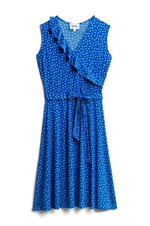 November Stitch Fix unboxing and try on featured by top US life and style blogger, Marcie in Mommyland: image of Leota wrap dress | For warmer fall days, throw on this faux wrap dress perfect for warm fall days