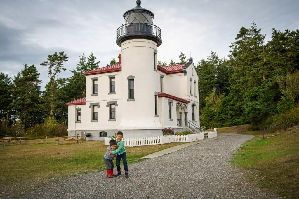 At Fort Casey State Park, be sure to walk up to Admiralty Head Lighthouse, a historic lighthouse on Whidbey Island