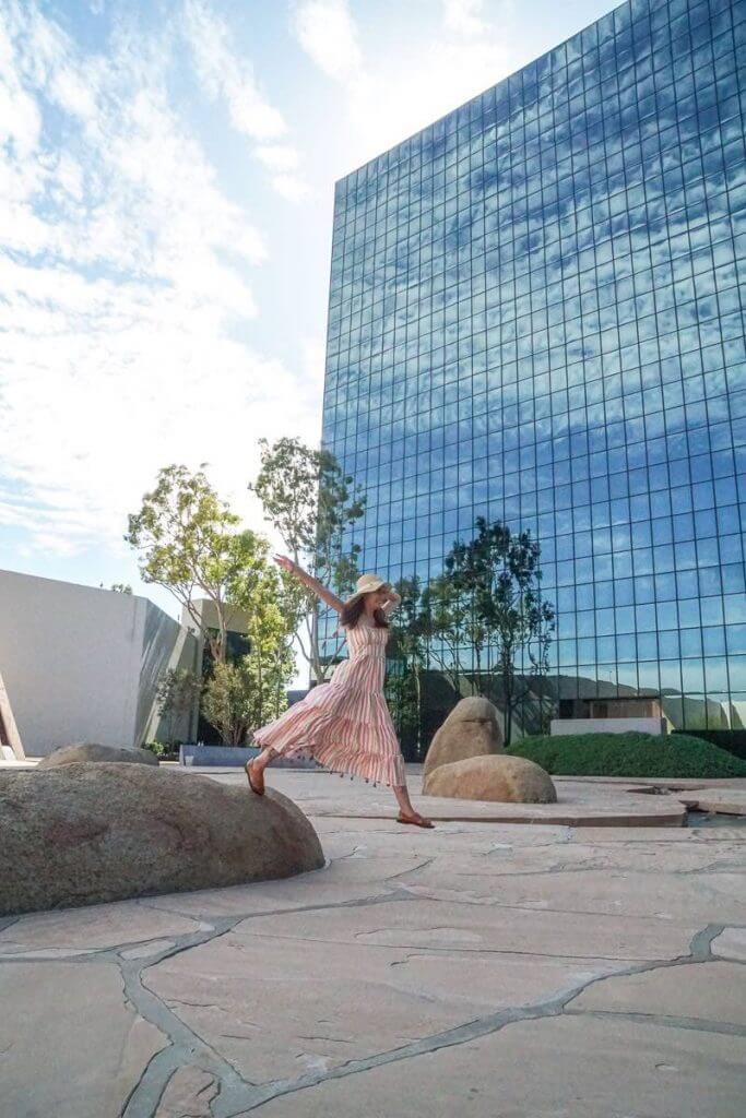 There is a 16 acre Costa Mesa Art Walk featuring Noguchi Garden