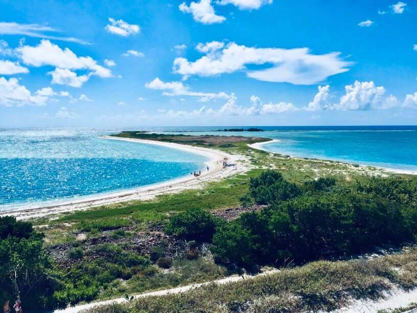The Best Warm Places to Visit in December in the USA featured by top US travel blogger, Marcie in Mommyland: Dry Tortugas National Park in Key West, Florida