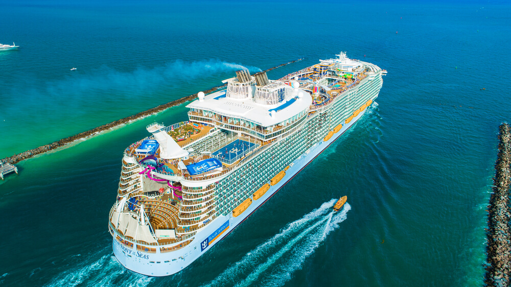 Best Cruises for Toddlers this Year featured by top US family travel blogger, Marcie in Mommyland: Royal Caribbean Cruise Lines Symphony of the Seas cruise ship.