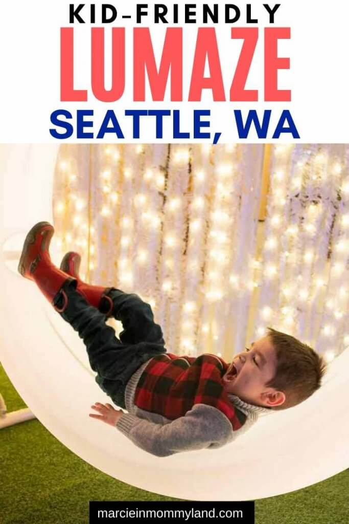 Lumaze Indoor Light Festival in Seattle review featured by top Seattle blogger, Marcie in Mommyland.