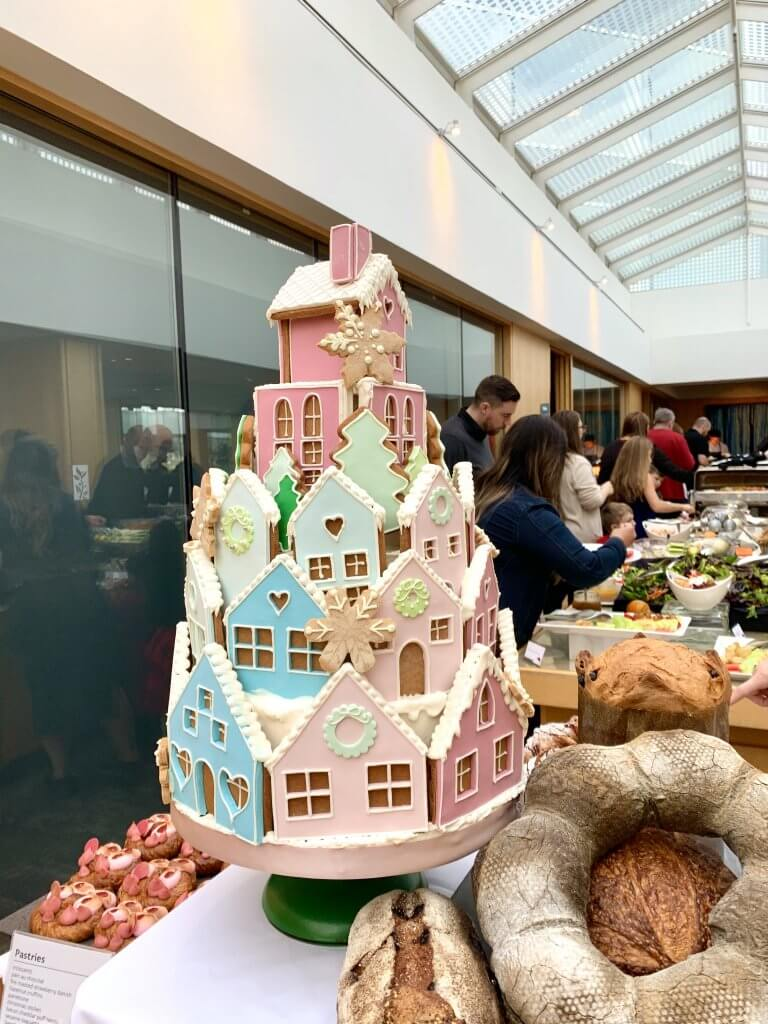 Christmas in Victoria BC: the Best Kid Friendly Festivities featured by top US family travel blogger, Marcie in Mommyland: Pastel multicolored iced gingerbread house