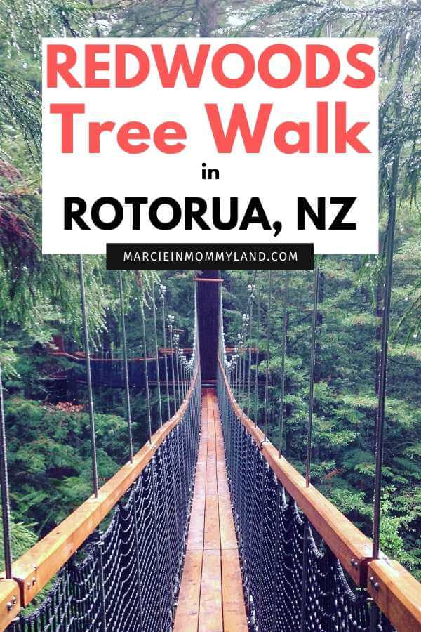Redwoods Tree Walk in Rotorua, New Zealand travel guide featured by top family travel blogger, Marcie in Mommyland
