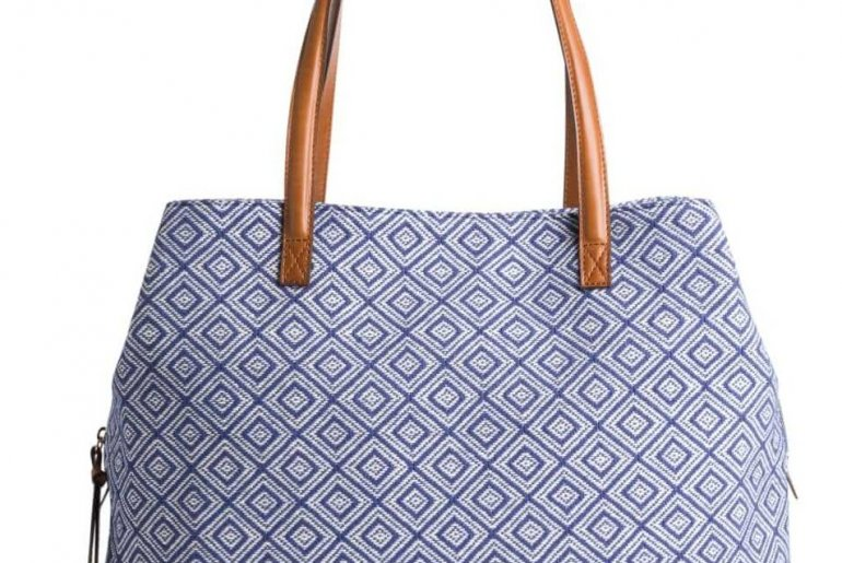 Stitch Fix Unboxing and Try on for January featured by top US life and style blogger, Marcie in Mommyland: Anchorage Diamond Printed Tote by Street Level as part of the January 2020 Stitch Fix box