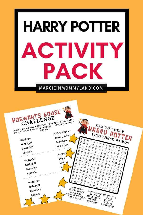 Harry Potter Printable Activity Pack featured by top US lifestyle blogger, Marcie in Mommyland