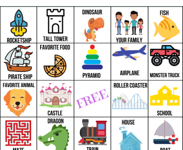 LEGO Bingo Printable Activity featured by top US lifestyle blogger, Marcie in Mommyland