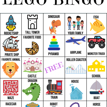 LEGO Bingo Game for Kids – FREE Printable