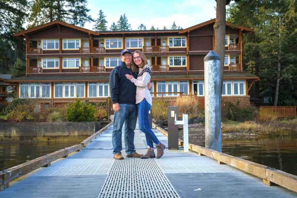 Top 12 Best Romantic Weekend Getaways from Seattle featured by top Seattle blogger, Marcie in Mommyland: Alderbrook Resort & Spa is the ultimate Pacific Northwest weekend getaway