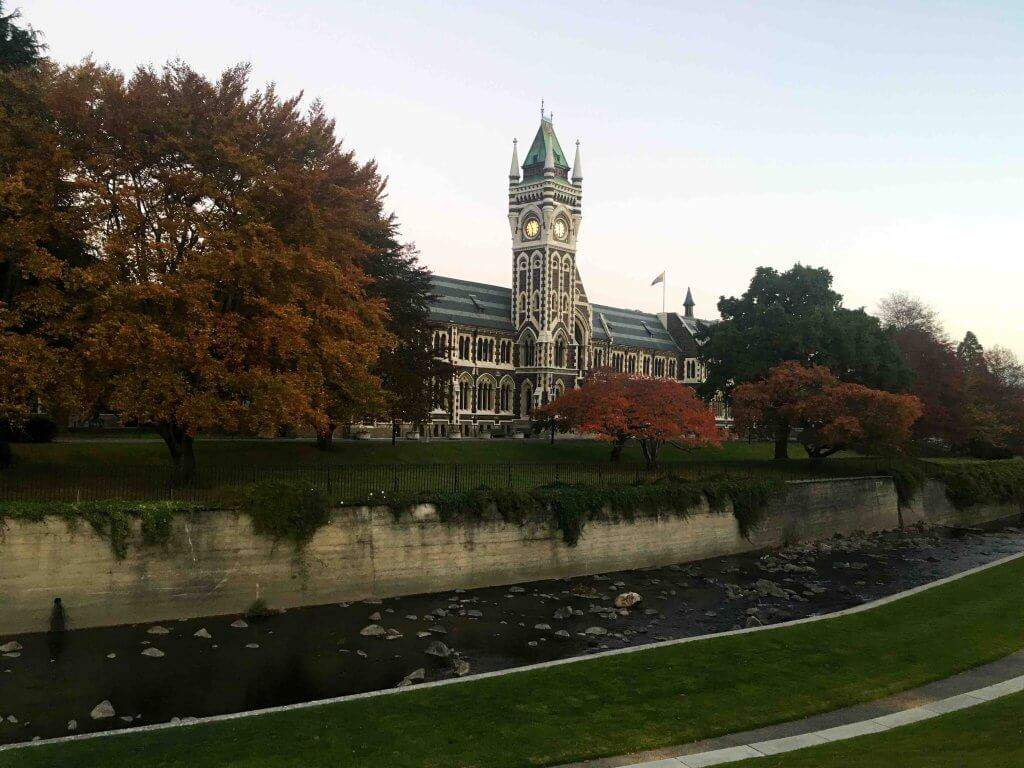 The Best Things to do in Dunedin New Zealand featured by top family travel blogger, Marcie in Mommyland: Dunedin New Zealand Clock Tower