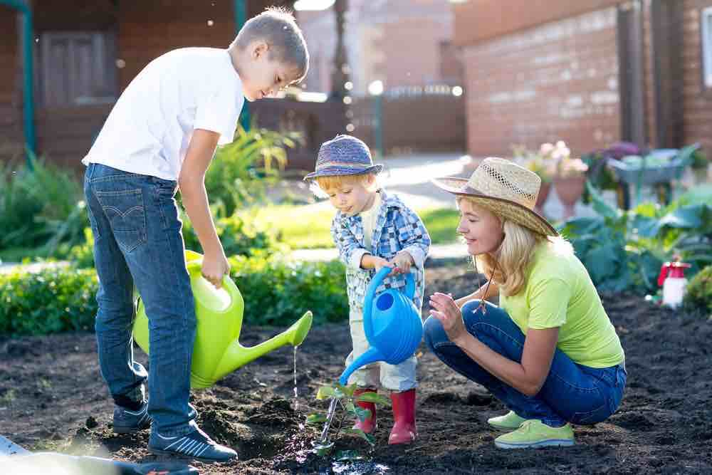 8 Super Fun Things to Do in the Summer at Home with Kids featured by top Seattle lifestyle blogger, Marcie in Mommyland: gardening