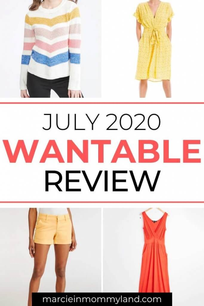 Wantable Style Edit Review and Unboxing July 2020 by top Seattle lifestyle blogger, Marcie in Mommyland