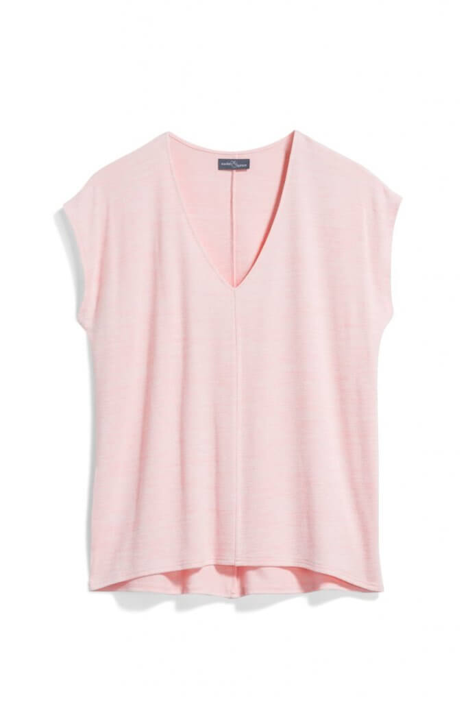 Stitch Fix Unboxing & Try On: June 2020 featured by top Seattle lifestyle blogger, Marcie in Mommyland: image of Tarza V-Neck Knit Top by Market & Spruce